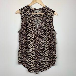 41 Hawthorn Cheetah Print Blouse Size Large